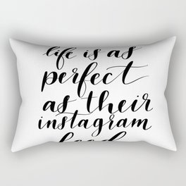Instagram Reality Rectangular Pillow