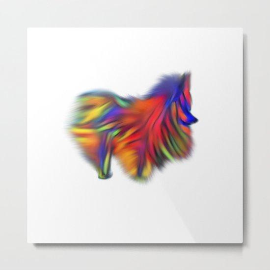 Colour my world Pomeranian Metal Print