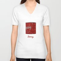 lebowski V-neck T-shirts featuring The Lebowski Series: Donny by Bubblegun