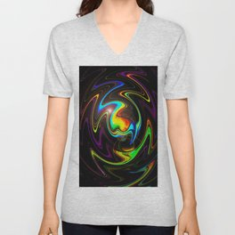 Abstract Perfection Unisex V-Neck
