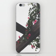 Wooden & Flowers iPhone Skin