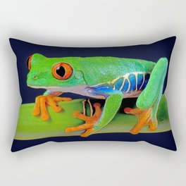 TREE FROG ON BAMBOO Rectangular Pillow