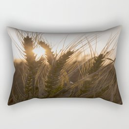 Wheat Holding the Sunset Rectangular Pillow