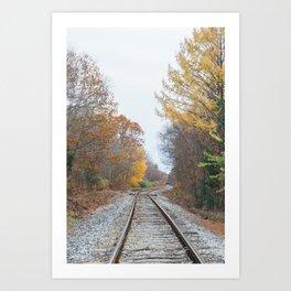 Autumn on the Railway Art Print