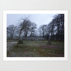 Clava Cairns Art Print