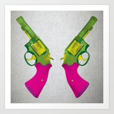 Play Guns Art Print