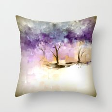 Romance in Plums Throw Pillow