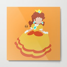 Princess Daisy Deluxe Metal Print