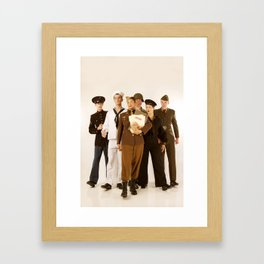Top Secret Woman. Framed Art Print
