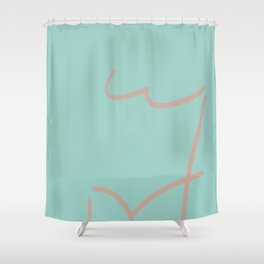 My Body My Lines Shower Curtain