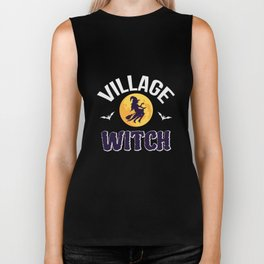 Funny Halloween Gift Village Witch Biker Tank