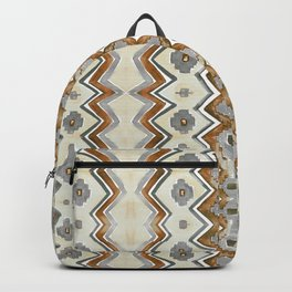 Modern Zig Zag in Gray Rust and Cream Backpack