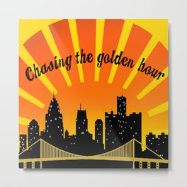 Chasing the Golden Hour Metal Print