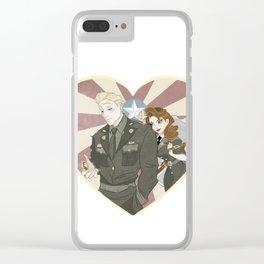 Cap & Peggy Clear iPhone Case