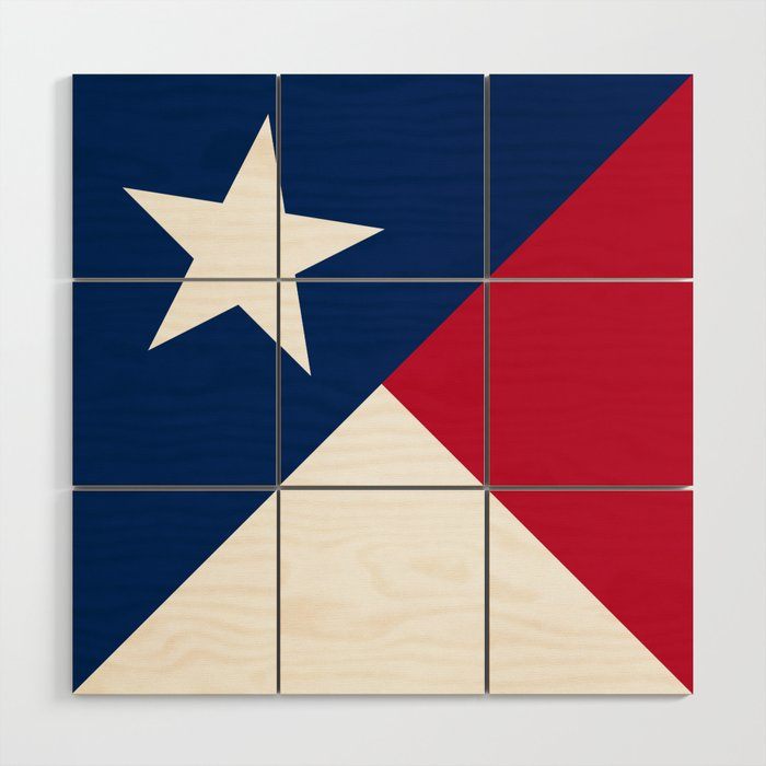 State Flag Of Texas Banner Version Wood Wall Art By Brucestanfieldartistamerica