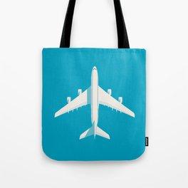 A380 Super Jumbo Jet Airliner - Cyan Tote Bag