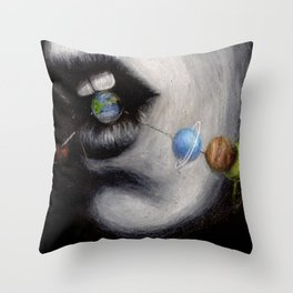 Candy Planets Throw Pillow