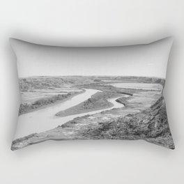 River Drumheller Badlands Rectangular Pillow