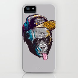 Gorillas Thinkers of the Urban Jungle iPhone Case