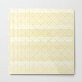 Geometric pattern yellow Metal Print