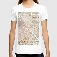 paris map T-shirts featuring Paris map by Mapsland