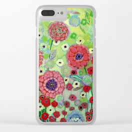 i am the dandelion in the wind Clear iPhone Case
