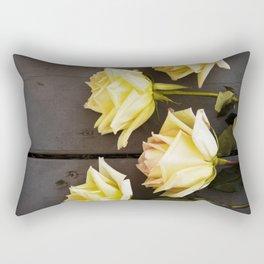 Country Yellow Roses Rectangular Pillow