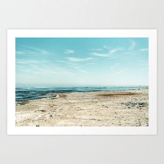 Sand beach Ocean Art Print