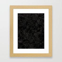 Black Silk Moire Pattern Framed Art Print