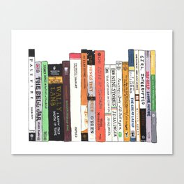 Classic Books Bookshelf Painting for Book Lovers Canvas Print