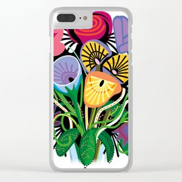 Yelapa Flowers Clear iPhone Case