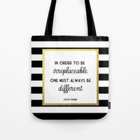 coco Tote Bags featuring coco by Beauti Asylum