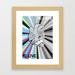 re-love Framed Art Print