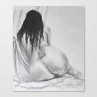 tina crespo Canvas Prints featuring Tina by ART of N. Zepeda