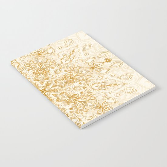 Sepia Snowflake Doodle Notebook