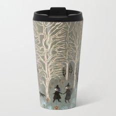 White Woods Metal Travel Mug