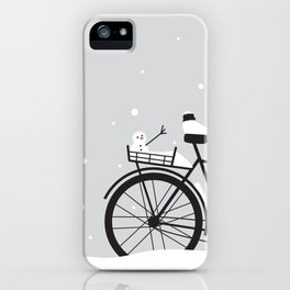 Bicycle & snow iPhone Case