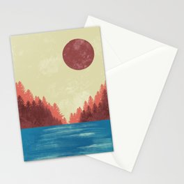 Summer Sunset Vibes Stationery Cards