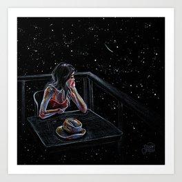 Wait for a Star Art Print