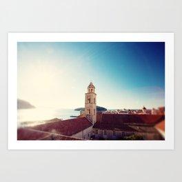 View of the Sea in Dubrovnik Croatia Art Print
