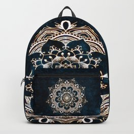 Glowing Spirit Mandala Blue White Backpack