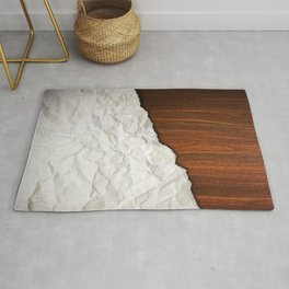 Wooden Crumbled Paper Rug