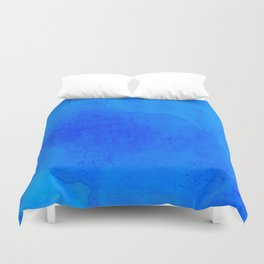 DARK BLUE WATERCOLOR BACKGROUND  Duvet Cover
