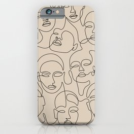 Crowded Girls In Beige iPhone Case