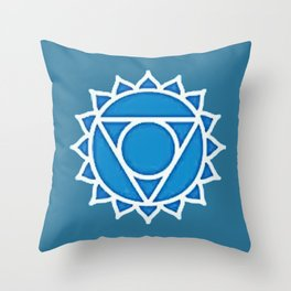 Y O G A BEACH TOWELS | VISHUDDHA | CHAKRA HOME DECOR | YOGA ARTICOLO per SPIAGGIA con CHAKRA Throw Pillow