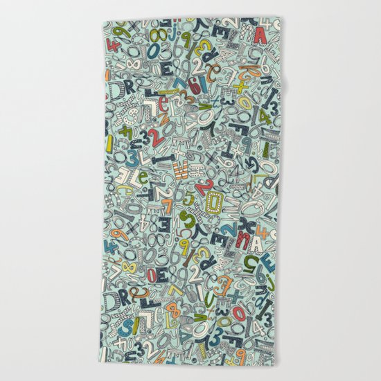 A1B2C3 ICE Beach Towel