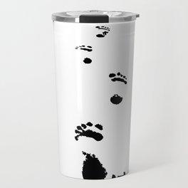 footprints foot prints Travel Mug