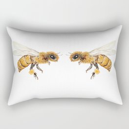 bees watercolor Rectangular Pillow