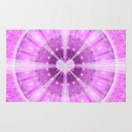 Heart Meditation Mandala Rug