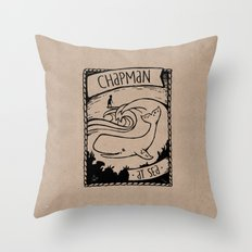 Chapman at Sea Throw Pillow